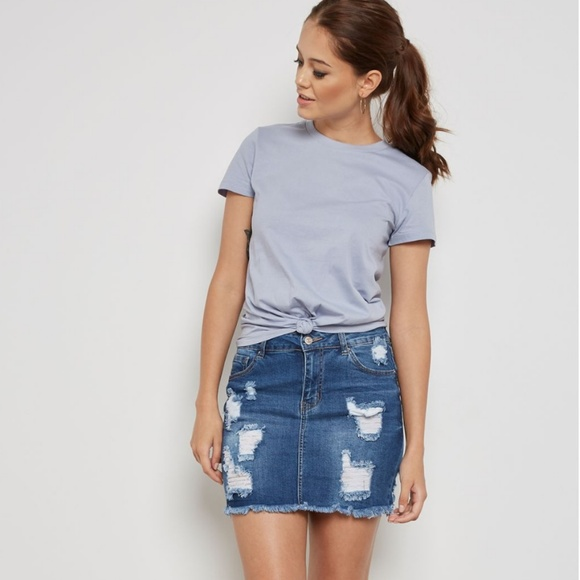 86ac09053d Forever 21 Skirts | High Waisted Jean Skirt | Poshmark